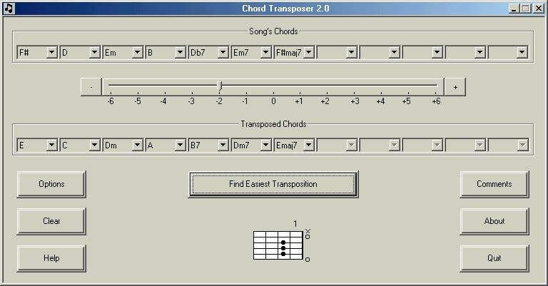 Chord Transposer 2